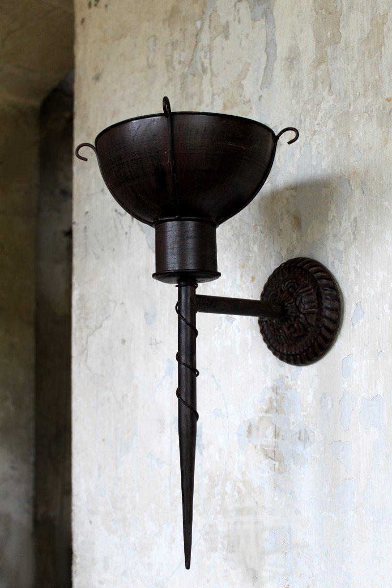wandkerzenleuchter wandkerzenhalter antik wandleuchter shabby landhaus vintage. Black Bedroom Furniture Sets. Home Design Ideas