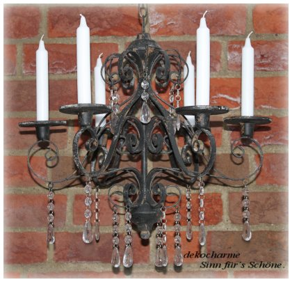kronleuchter kerzen kerzenleuchter leuchter antik eisen ebay. Black Bedroom Furniture Sets. Home Design Ideas