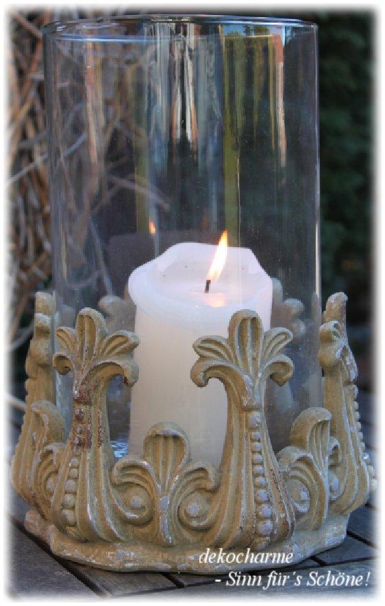 Windlicht Antik Landhaus Vintage Shabby Teelichthalter