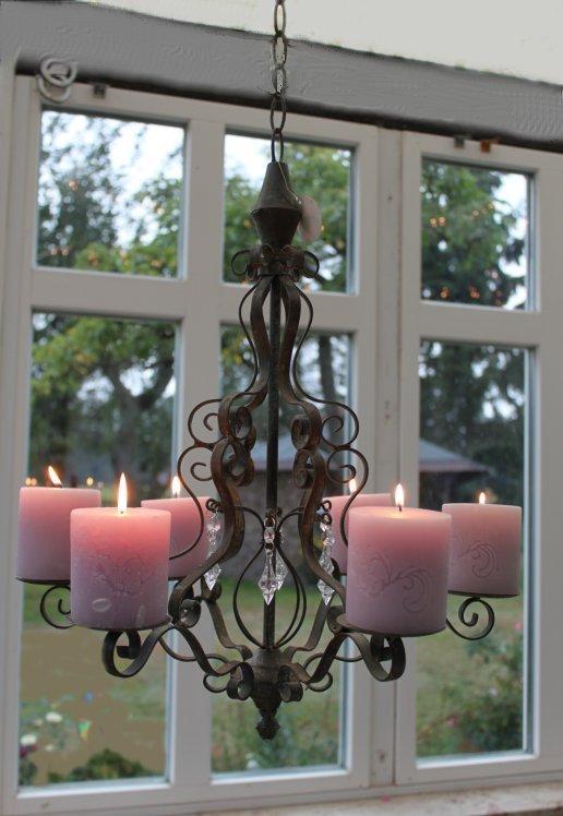 kerzen kronleuchter l ster antik shabby landhaus metall vintage leuchter lampe ebay. Black Bedroom Furniture Sets. Home Design Ideas