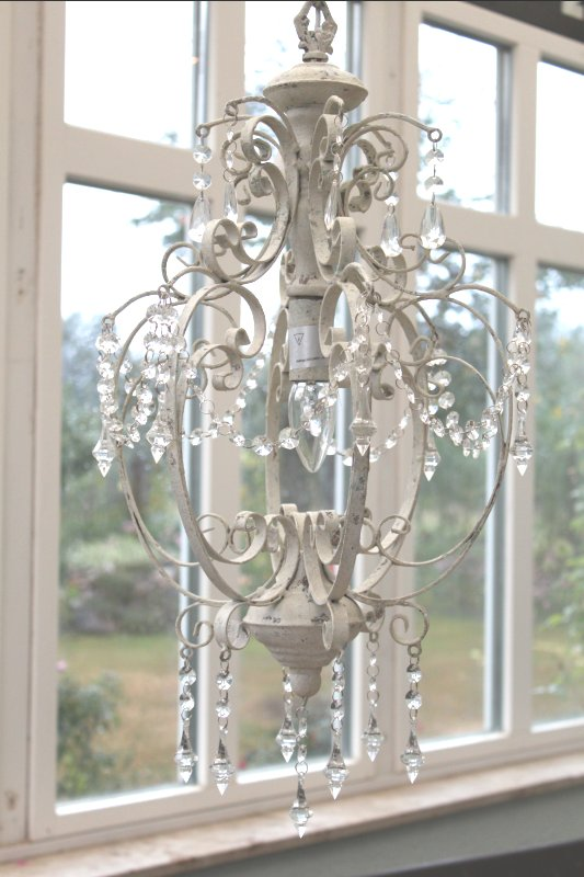 kronleuchter l ster romantische lampe deckenleuchte shabby chic antik wei neu ebay. Black Bedroom Furniture Sets. Home Design Ideas